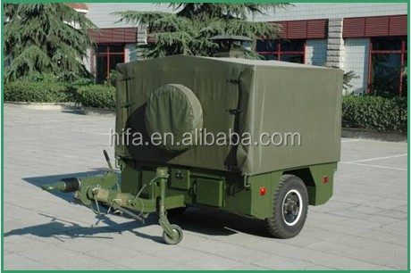 mobile field kitchen trailer for military food catering