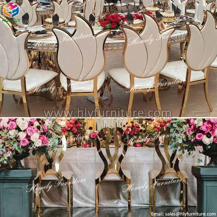 Wholesale hotel wedding party event stackable modern stainless steel dining chairs