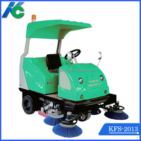 commercial dual brush driving type floor sweeping machine