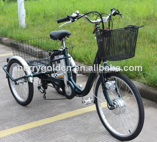 3 wheel electric bicycle electric pedicab cargo tricycle pedal assisted with cabin