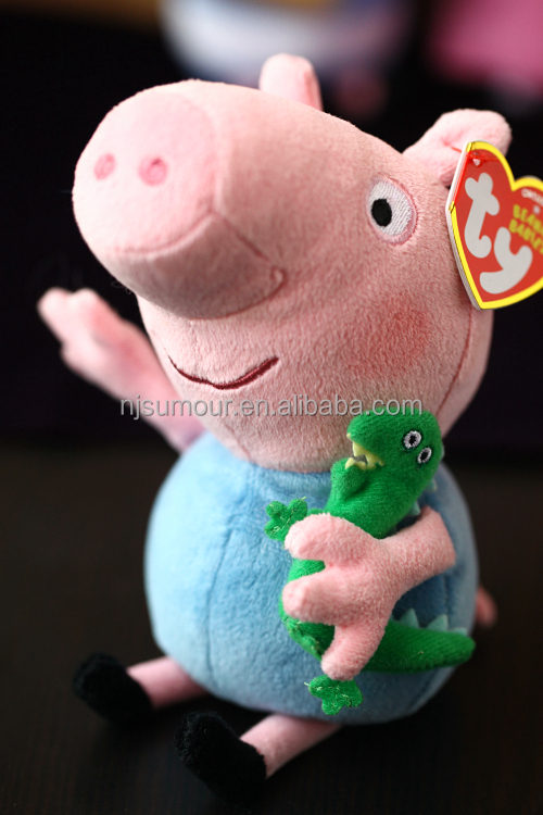 TY Peppa Big Pig plush toys for kids hot sale stuffed pink pig birthday gift baby toys