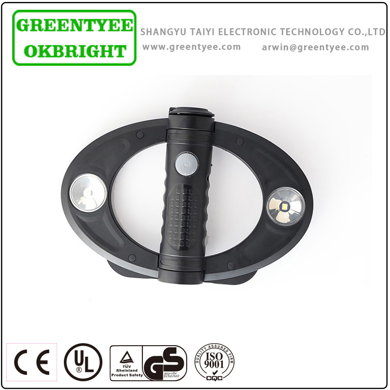 high quality round and foldable black hid light for work