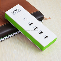 Multifunction High Speed 4 -Port USB AC to USB Power Socket USB Charging Station 5V/4.2A Travel Charger