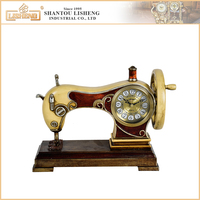 Wholesale decoration antique sewing machine desk clock