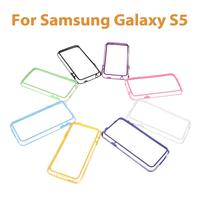 Big Sales Personalized Colorful TPU+PC Bumper Frame Case Cover for Samsung Galaxy S5 i9600 Durable