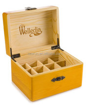 essential oil box wood with compartments