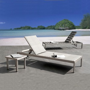 lowest outdoor furniture resort sun lounge poly wood Stackable beach lounge chairs