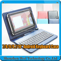 7 inch Tablet Mini Micro USB 2.0 Wired Keyboard Leather Case leather case cover with usb keyboard