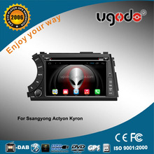 ugode car audio player support car dvr for ssangyong kyron