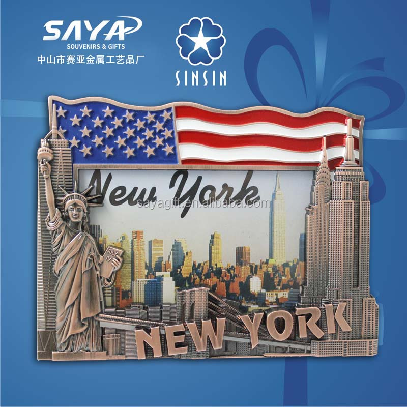 NY leader looking Las vegas metal souvenir picture frame distributor