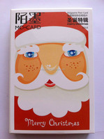 Die cut Paper Greeting Xmas christmas cards