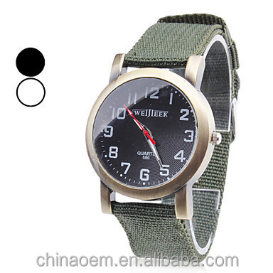 New Solider Military Army Men's Sport Style Canvas Belt Luminous Quartz Wrist quartz brand Watch men