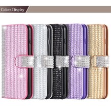 China supplier Luxury Bling Leather Flip Case for i Phone 6S with card slots , for iphone 6s case