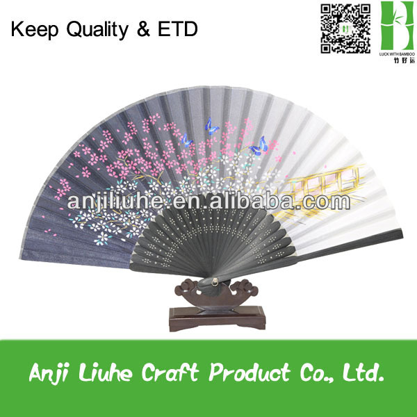 Japanese style fold up promotional hand fan