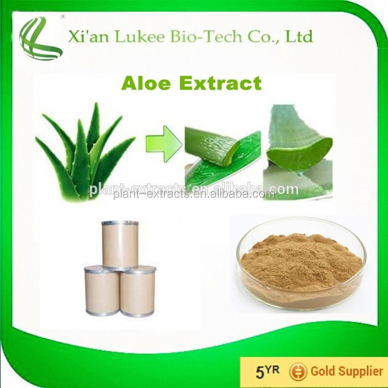 100% natural Aloe Extract 98%Barbaloin aloe vera leaves powder for sale