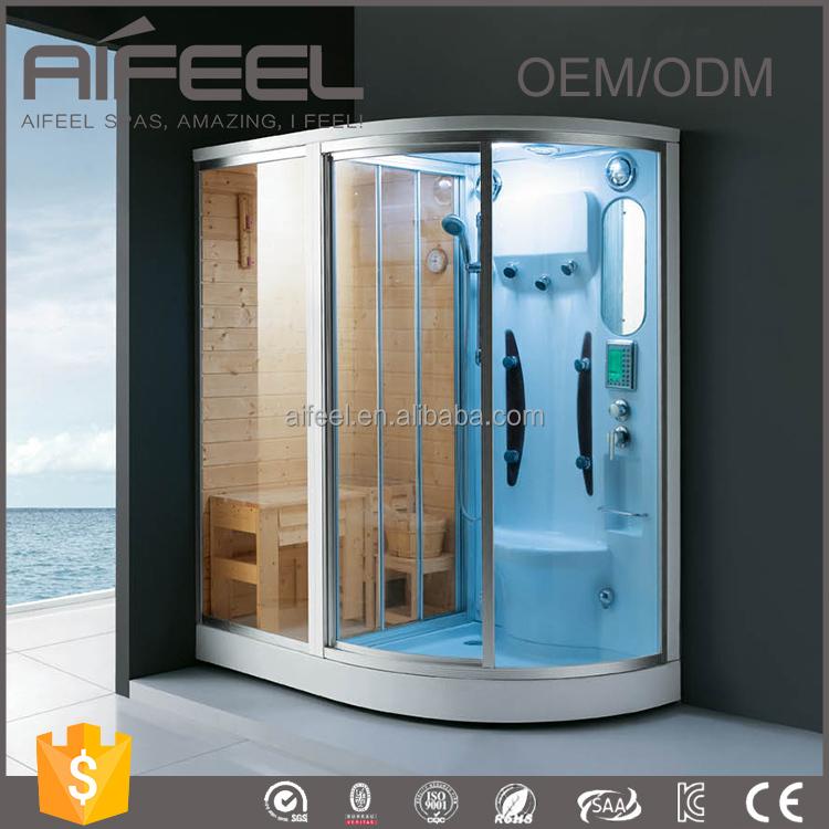Luxury Glass Door : Luxury glass door home sauna steam room combination