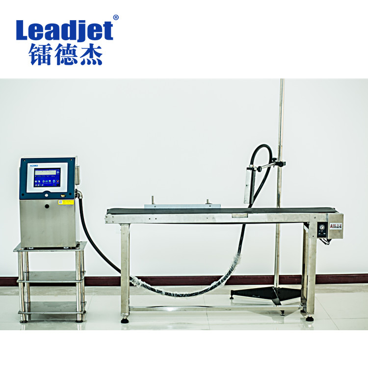 Leadjet V280 professional inkjet printer manufacturer time date numbering plastic cover printing machine