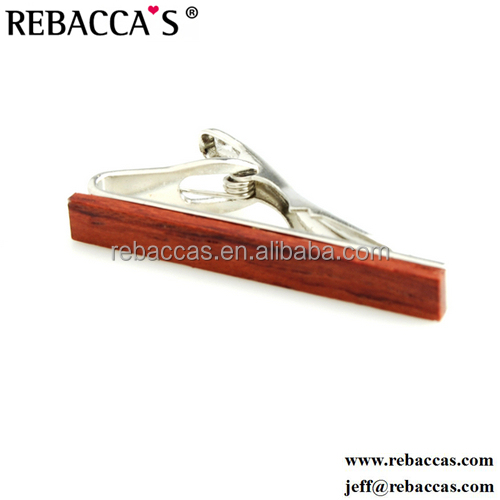 Luxury wooden tie clip box wood oem men tie clip // jewellery manufacturer wholesale infinity edge rectangular tie clip