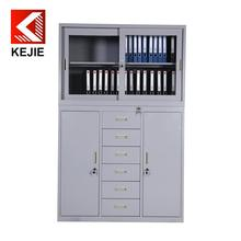 new design steel filing cabinet metal file cabinet with glass door 6 door fireproof filing cabinet metal office furniture