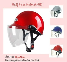 economic and high quality with transparent visor half face helmet