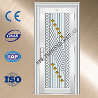 50mm Thickness Leaf Stainless Steel Door YZ-6038