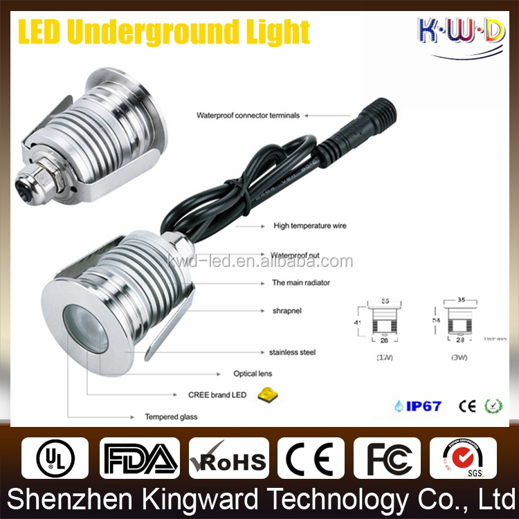 Hot sale 3 years warranty 12v 24v 1w 3w outdoor under deck lighting