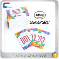 100 Pieces/ set Live Sale Plastic Number Cards with Normal and Reversed Mirrored Numbers Tags