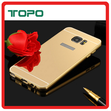 New Luxury Gold Top quality mirror mobile cell phone case for samsung galaxy s5 s6 s7 s8 edge plus