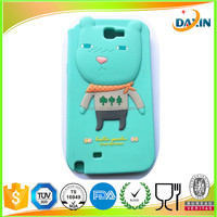 Popular custom silicone rubber mobile phone cover / animal phone case
