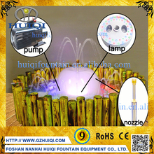Factory supplier indoor fountains small submersible fountain Pump with LED Lights for ornament