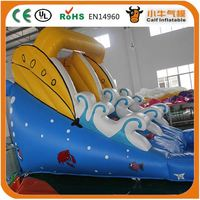 Factory direct sale good quality giant banzai inflatable water slide fast shipping