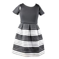 fashion kids girls party dresses with black and white