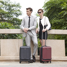 Polycarbonate PC high quality luggage with a laptop bag inside