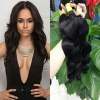 wholesale 100% virgin human hair body wave bundles grade 7 south east asian hair
