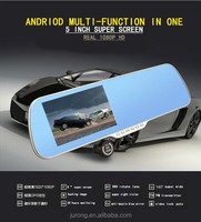 5 Inch Android wifi Rear View Mirror Dual Lens Car DVR with GPS