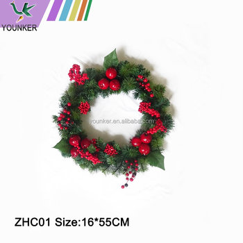 Artificial Christmas Rattan Red Berries Christmas Wreath