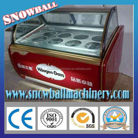 high quality ice cream display showcase freezer