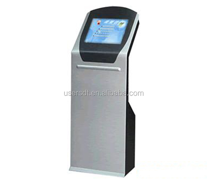 "32"" touch screen pc thermal kiosk printer bard code all in one design"