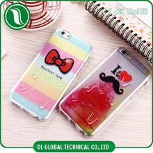 Mobile Accessories for iphone case TPU Soft Clear Cover Melt Ice Cream for iPhone 5s case, for iphone 5 case