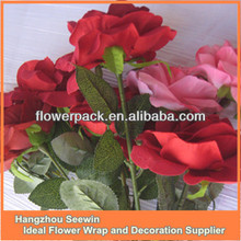 Artificial rose flowers for Christmas decoration