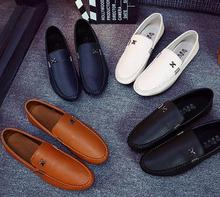 British style vintage soft pu sole wholesale footwear men casual shoes
