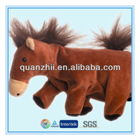 Custom plush toy horse stuffed animal toy hand puppet for sale