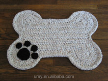 2017 Hot New Products For Pet Dog Crochet Pattern Pet Food Feeding Floor Mat Supplier