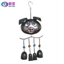 Customize wind spinner US hotsell Cute Garden Metal Pig Wind Chime Wholesale