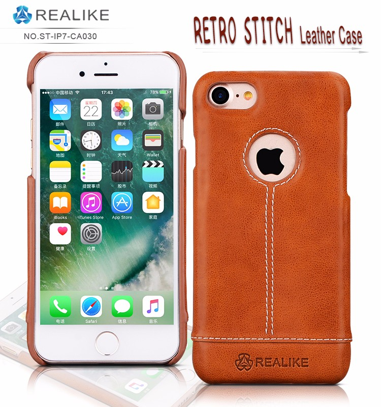2017 new case for iphone 7,pu leather logo design phone case