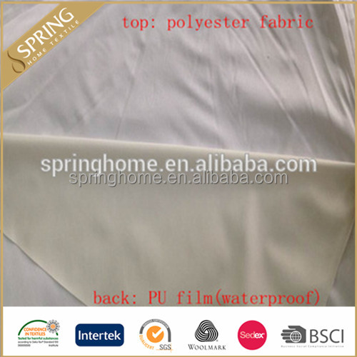 100%polyester waterproof breathable Laminated knit <strong>fabric</strong> with PU, PE, PVC Soft mattress Protector <strong>Fabric</strong>