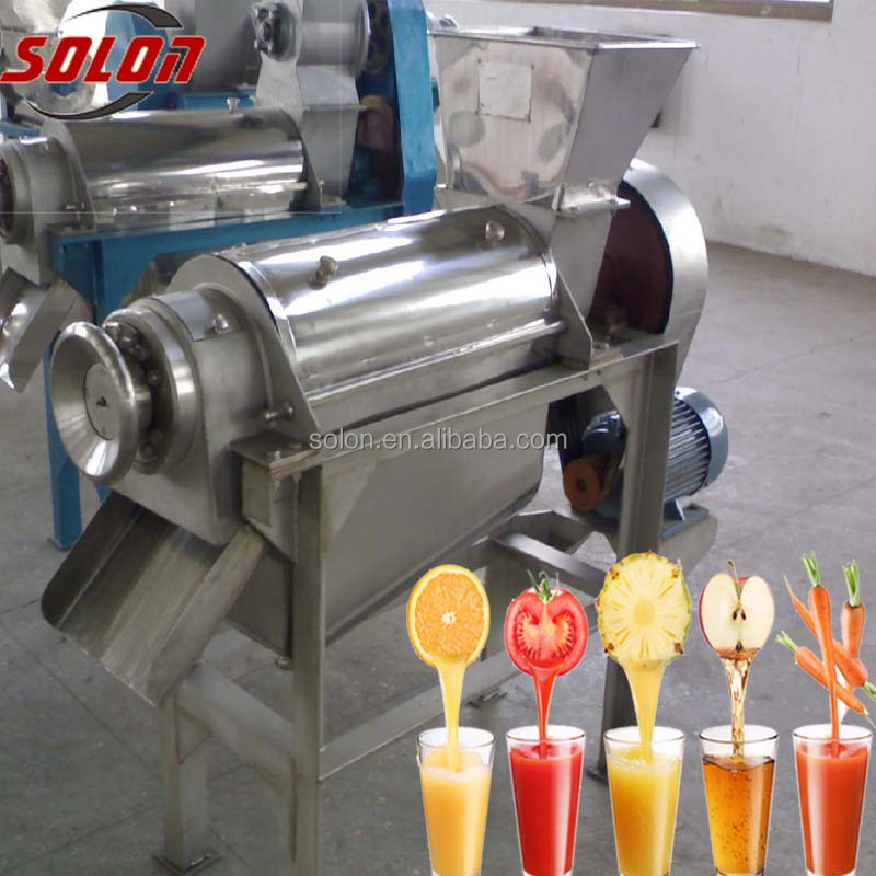 2016 Zhengzhou Solon CE approved mango puree extractor fresh vegetable and Fruit Juice Extractor