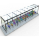 European style outdoor rain car stop for bicycle shelter