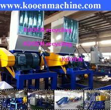 scrap plastic crush crusher crushing grinder grinding machine for waste pet bottle, ldpe lldpe plastic film, pp woven bags