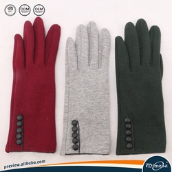 solid color touch screen customized black winter gloves